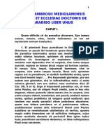 Ambrosius, De Paradiso Liber Unus, LT