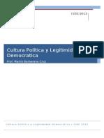 Cultura Politica y Legitimidad Democratica