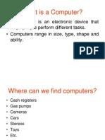 CS100 LEC 3 (1 Day) Hardware - Types of Computer