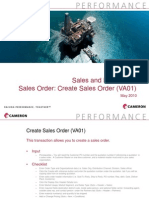 Sales and Distribution Sales Order - Create Sales Order VA01