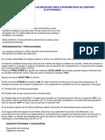 PROCEDIMIENTO DE CALIBRACION PARA CRONÓMETROS DE DISPARO ELECTRÓNICO