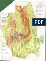 Harta Geomorfologica a Romaniei