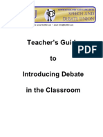 NLSDU Teachers Guide to Debate