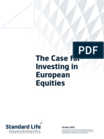 The Case for Eu Equities