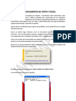 Documento de Texto y Excel