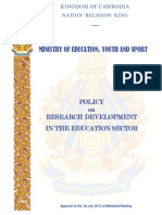 Policy on Research Development