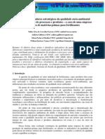 Proposta de indicadores estratégicos da qualidade sócio-ambiental para o alinhamento de processos e produtos