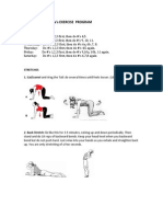 Dr. DeFranca's Exercise Plan