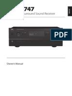 T 747 A_V Surround Sound Receiver - English Manual