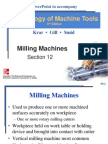 Milling Machine Cutters, Up Milling and Down Milling