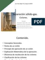 Separación sólido-gas