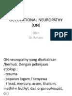 Occupational Neuropathy (on)