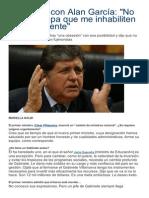 Entrevista con Alan García