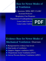 2007 Evidence Base for Newer Modes of Mechanical Ventilation