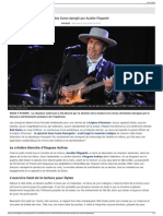 Bob Dylan épinglé par Aurélie Filippetti