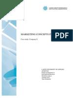 Marketing Cencept in Practice- Case Study AAA Company