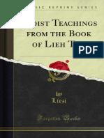Taoist Teachings From the Book of Lieh Tzu