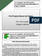 Modelo Conceitual Pré-Projeto
