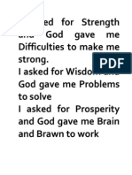 I Asked for strenght