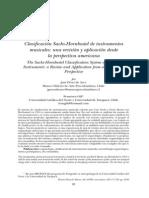 Pérez - Clasificación Sachs-Hornbostel de instrumentos musicales. una revisión y aplicación desde la perspectiva americana
