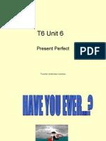 T6 Unit 6 Present Perfect