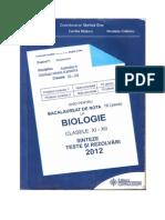 Ghid Pentru Bac Biologie (Sinteza Cl Xi-xii)