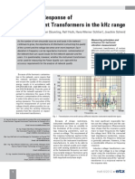 Frequency Response of Instrument Transformers in the kHz Range