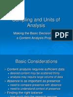 QCA2Sampling and Units of Analysis