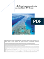 Marea Bariera de Corali Are Cea Mai Mica Rata de Crestere Din Ultimii 400 de Ani