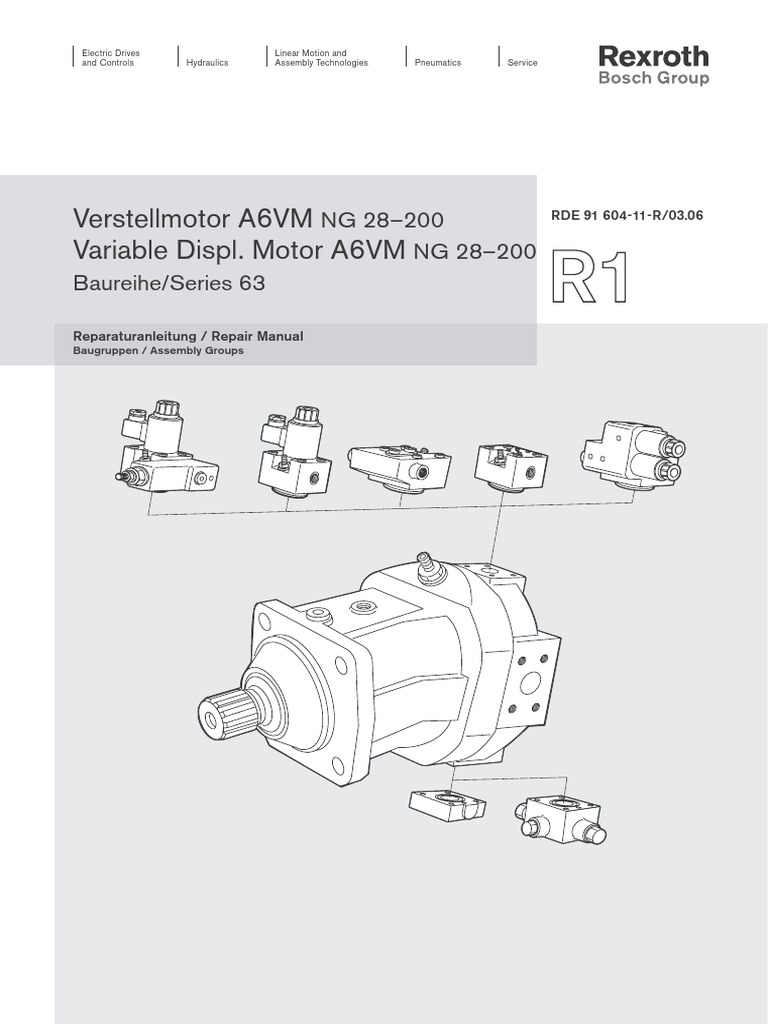 manual de reparo motor a6v r1 rh scribd com 12H802 Manual bosch rexroth a6vm repair manual