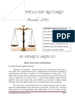 The Appellate Record - December 2013