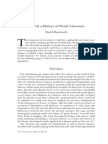 David Damrosch Toward a History of World Literature