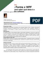 Comparação entre WPF e windows forms