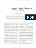 A Simple Algorithm for the Valuation of Preferred Stock
