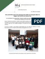 Une première pour les services de santé en français - A first for health services in French