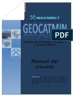 Geocatmin - Manual de Uso