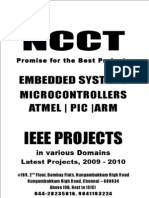 IEEE Embedded IEEE Project Titles, 2009 - 2010 NCCT Final Year Projects