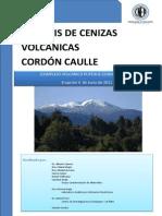 Caneiro, 2011. Análisis de cenizas volcánicas del Cordón Caulle.