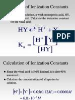 CH 17 3-15 Acid-Base Calculations