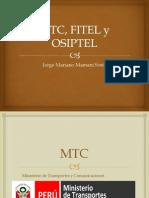 Mtc, Osiptel y Fitel