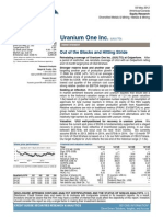 Credit Suisse Uranium Initiation