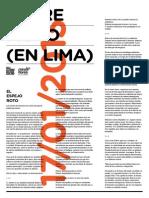 TERREMOTO (EN LIMA) | Sala LMQG | Lima, 2013