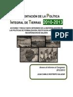 Implementación Politica Integral de Tierras