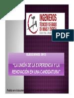 Publicacion de Candidaturas Definitivas Elecciones 2013 Jacinto Lopez