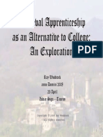 Medieval Apprenticeship as an Alternative to College