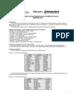 INTA - Red Nacional - Evaluación cultivares de colza - 2011-12 aceite