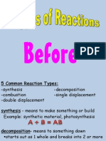 5 Types of Reactions