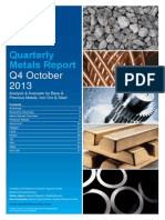 Sucden Financial Quarterly Metals Report October 2013