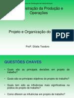 CAP 9         UNIDADE V - Projeto e Organização do Trabalho