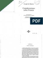 De Maistre Consideraciones Sobre Francia Cap 1 2 3 5